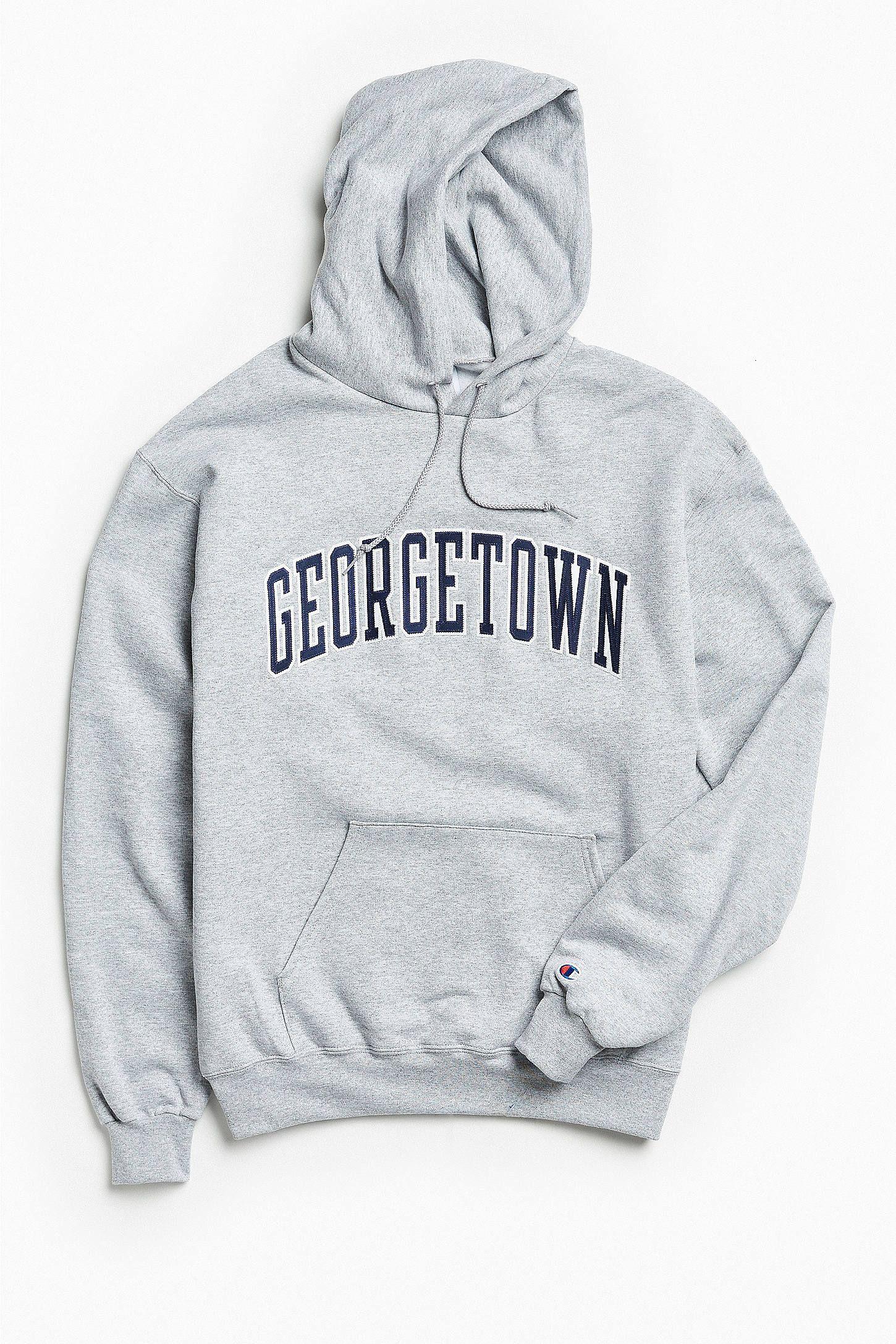 Champion Georgetown University Eco Fleece Hoodie Sweatshirt Sweatshirts Hoodie Hoodies Sweatshirts [ 2175 x 1450 Pixel ]