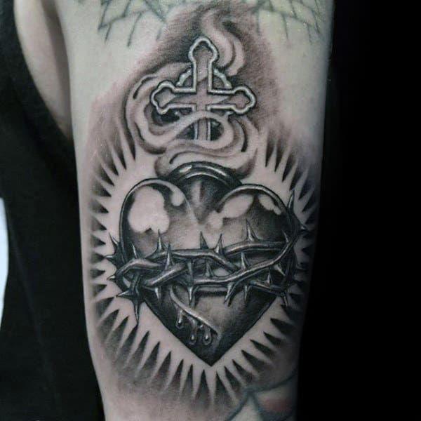 Top 99 Sacred Heart Tattoo Ideas - [2020 Inspiration Guide]
