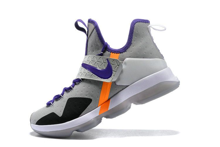 Top Sale Nike Lebron 14 XIV Pure Platinum Violet Total Orange 2017 Top Sale Nike Lebrons