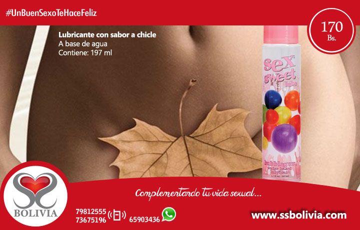 #UnBuenSexoTeHaceFeliz hoy te recomendamos este producto, lubricante con sabor a chicle. Encuentralo en nuestra tienda virtual http://www.ssbolivia.com/categoria.aspx?cat=5 Pedidos al 79812555 - 73675196 WhatsApp: 65903436