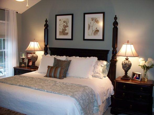 interesting blue brown master bedroom ideas | Brown and blue bedroom 3 - we should have white comforter ...