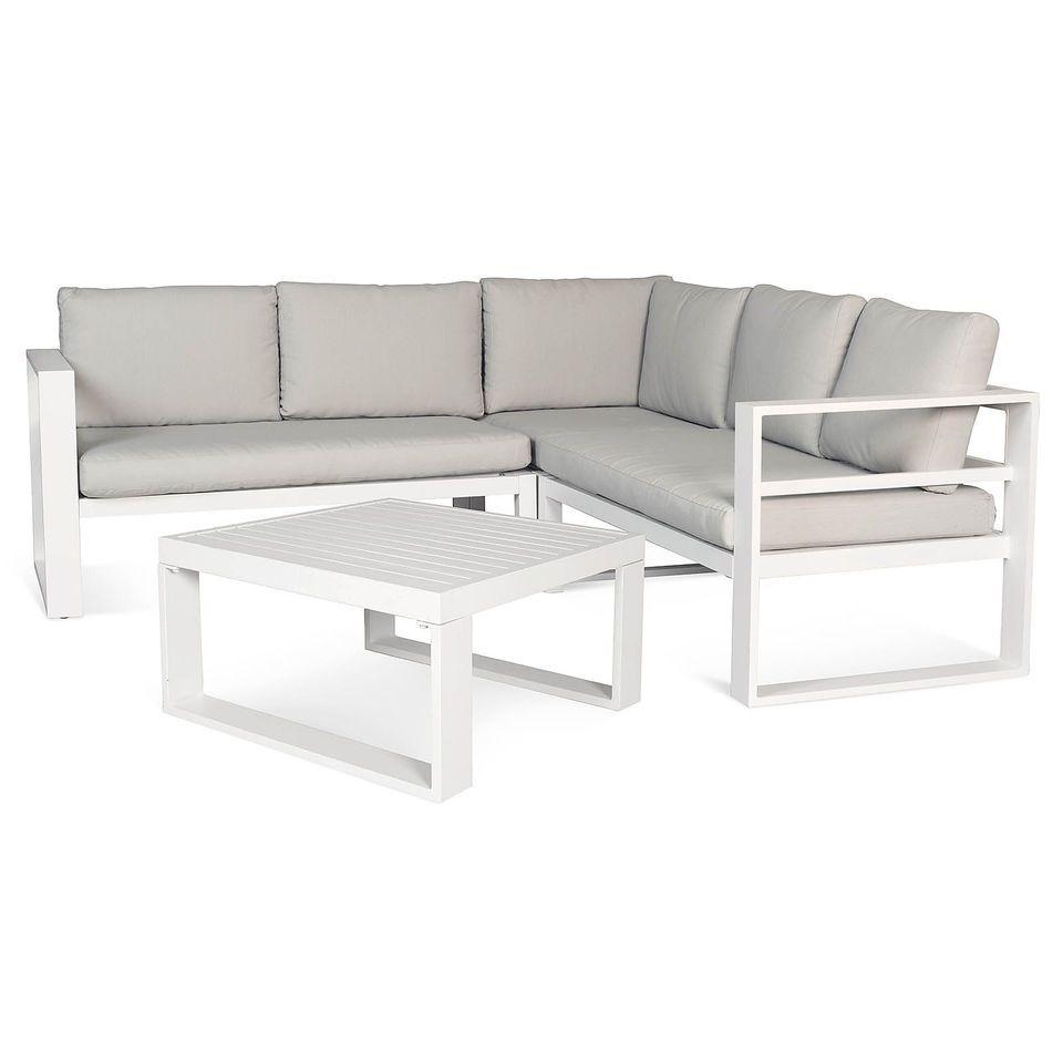 lounge tisch garten weiß