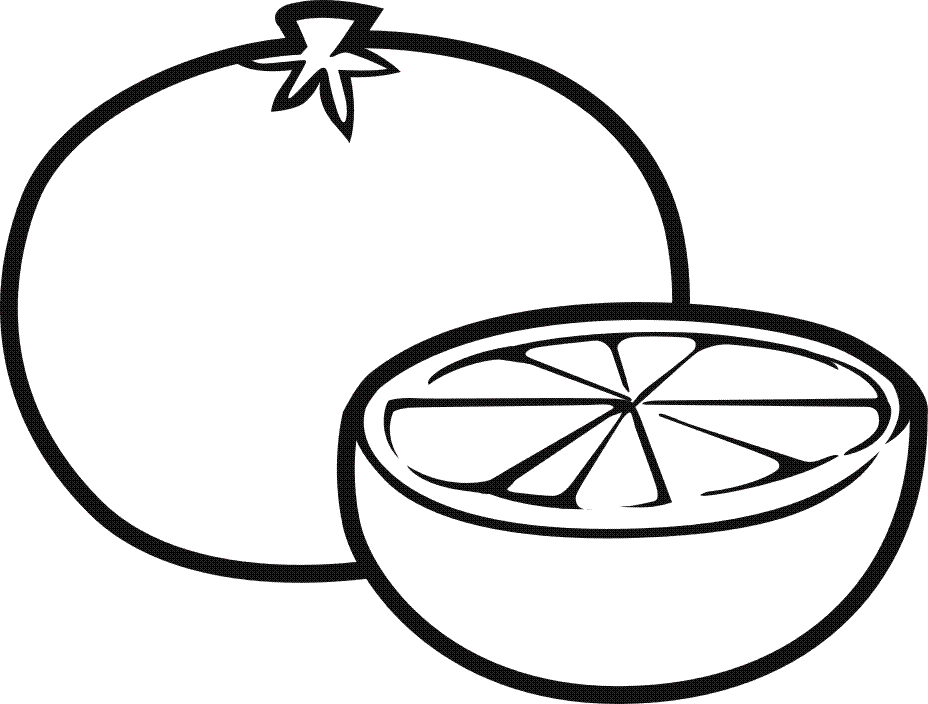 Fruits Vegetables Coloring Page for Kids Wallpaper http