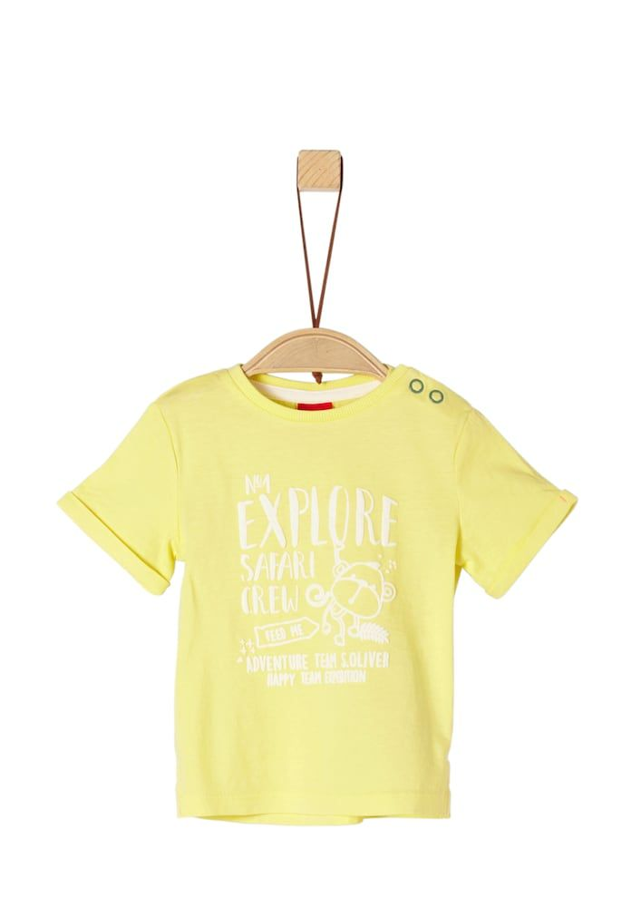 S Oliver Junior T Shirt Madchen Hellgelb Weiss Grosse 86 Kinder T Shirt Shirts S Oliver