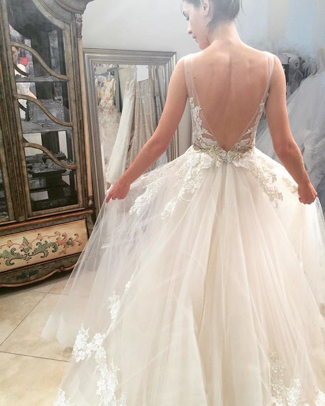 Lazaro style 3607 in stores now behind the scenes for Lazaro wedding dress uk