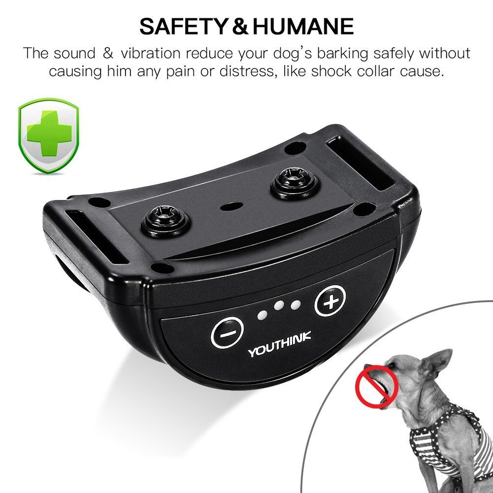Ashata Rechargeable Dog Collar Anti Bark Control Training