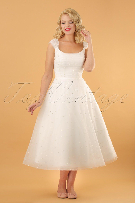 50s Betsy Bridal Swing Dress In White Rockabilly Wedding Dresses Swing Dress Vintage Inspired Wedding Gown [ 1530 x 1020 Pixel ]