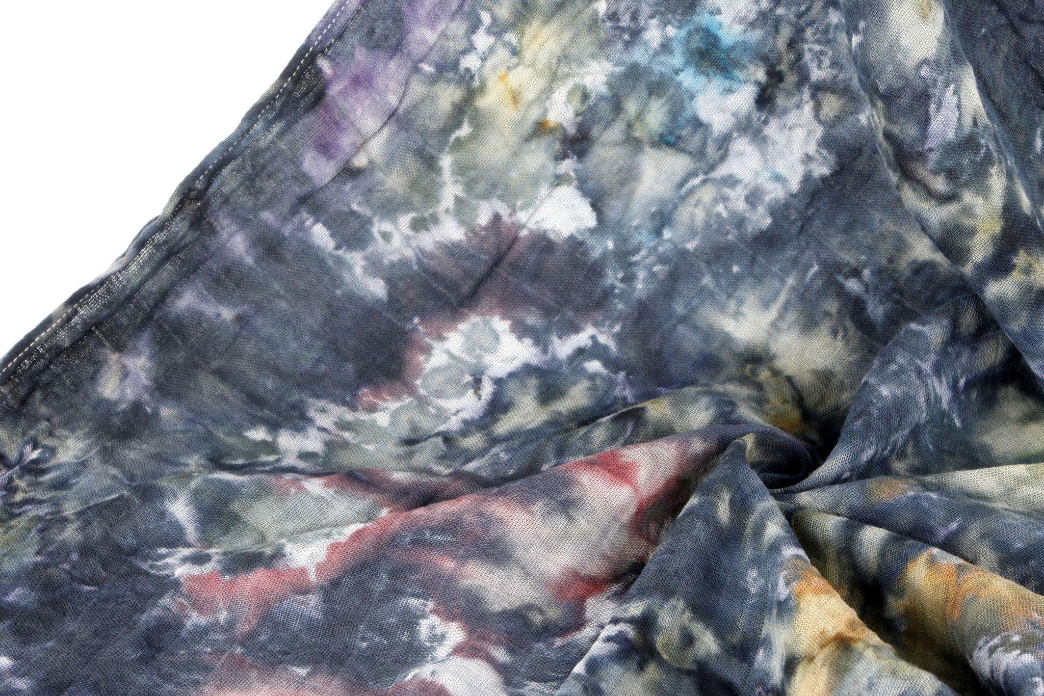 Stoff Mit Eiswurfeln Farben Batik Mit Eiswurfeln Stoff Naturfarben Druckverfahren