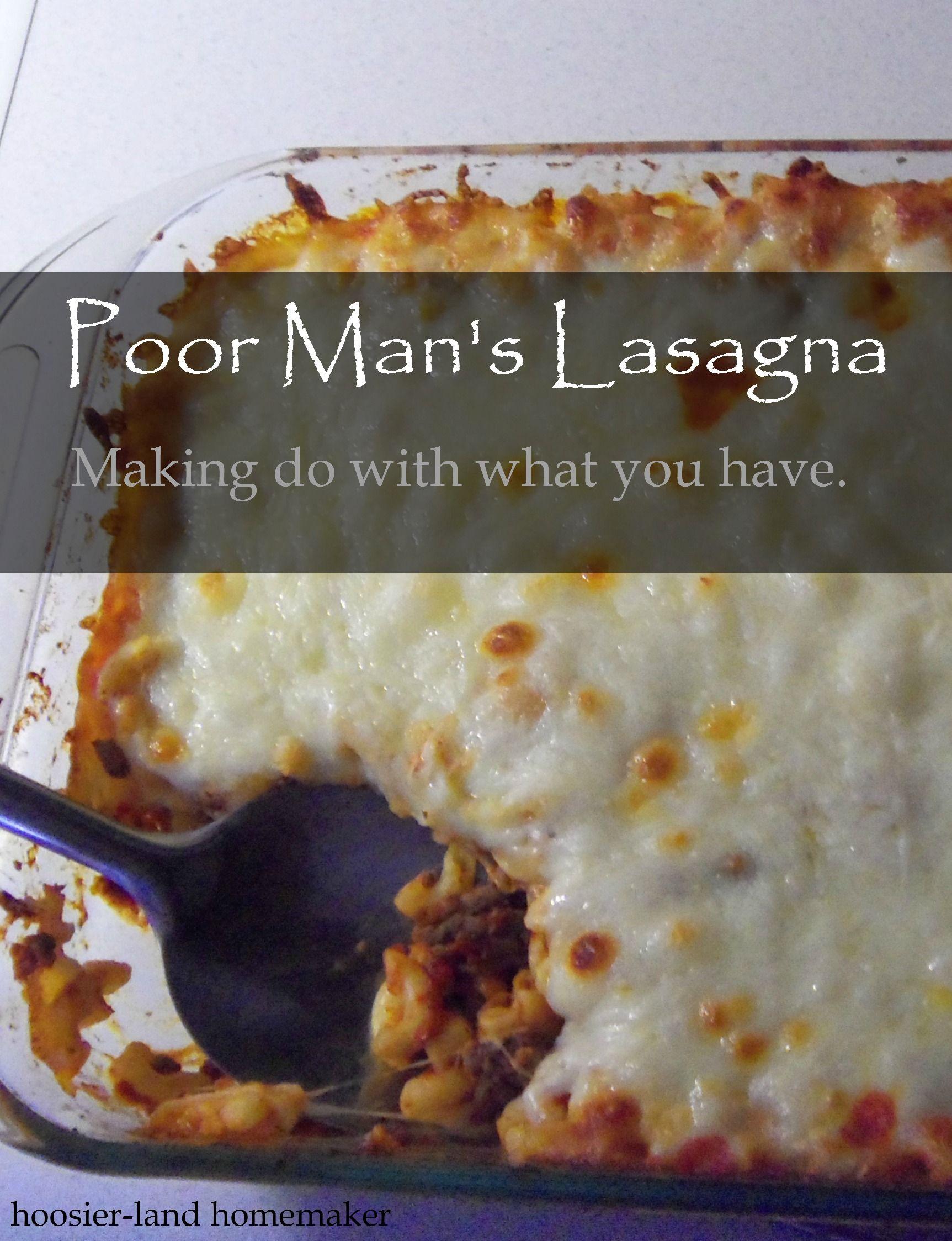 Poor Man S Lasagna Recipe Recipes Lasagna Recipe Lasagna
