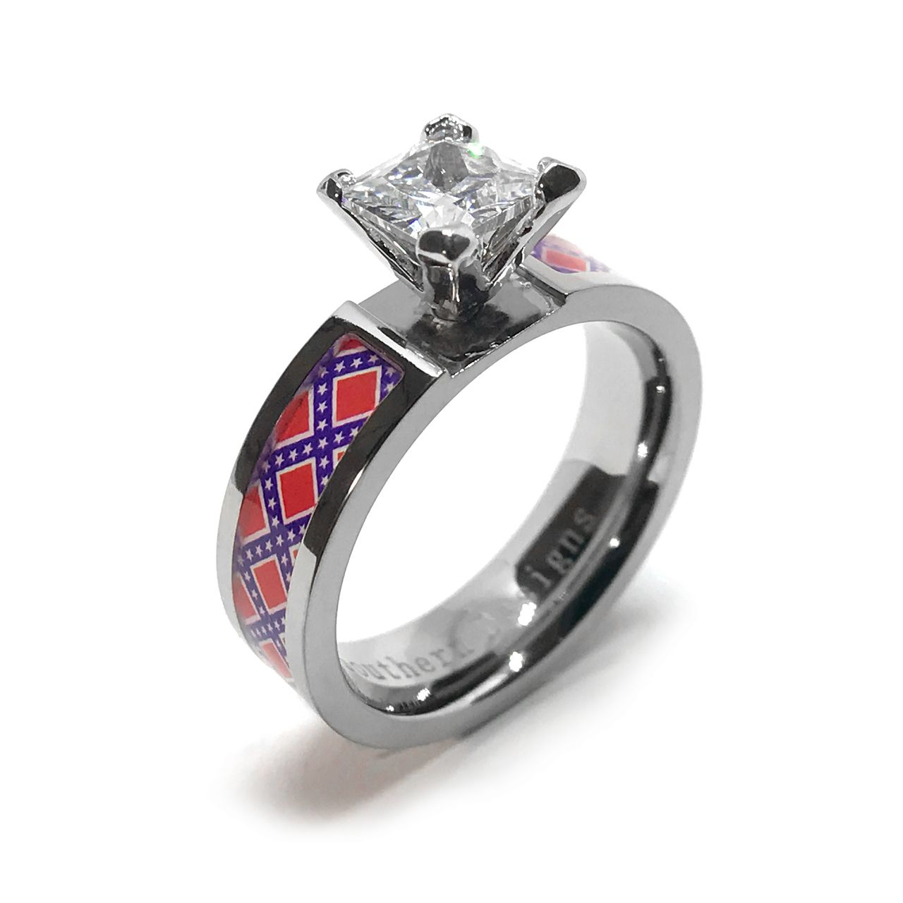 Rebel Flag Engagement Or Wedding Ring