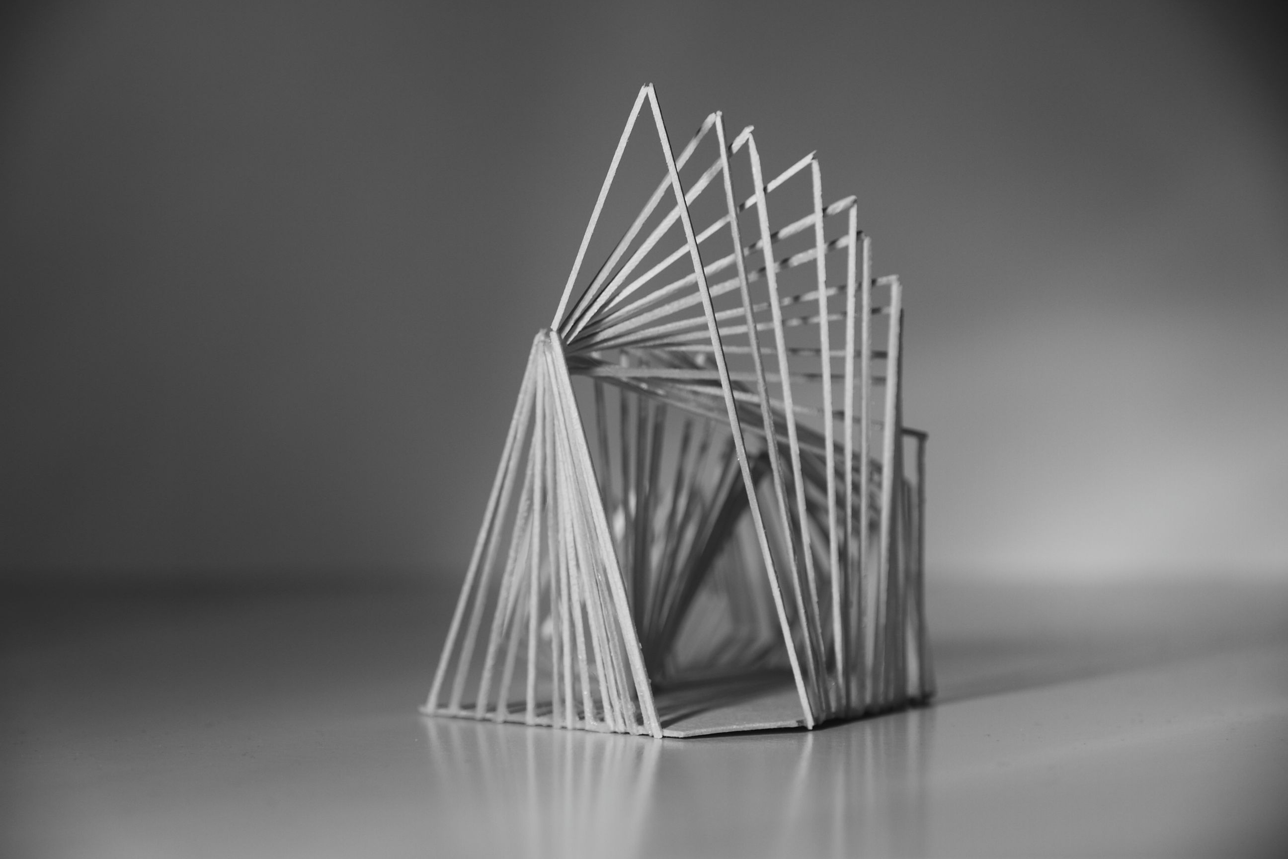 Model making interior and spatial design 1st year for Triangle concept architecture