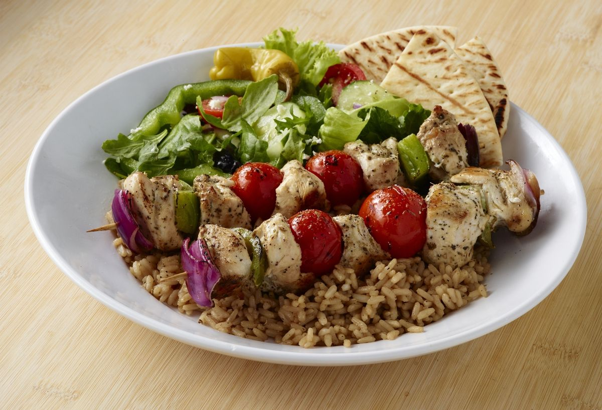 Zo S Kitchen Mediterranean Chicken Fascinating Zoës Kitchen In Phoenix Az  Gluten Free Kabobs Greek Salad And Review
