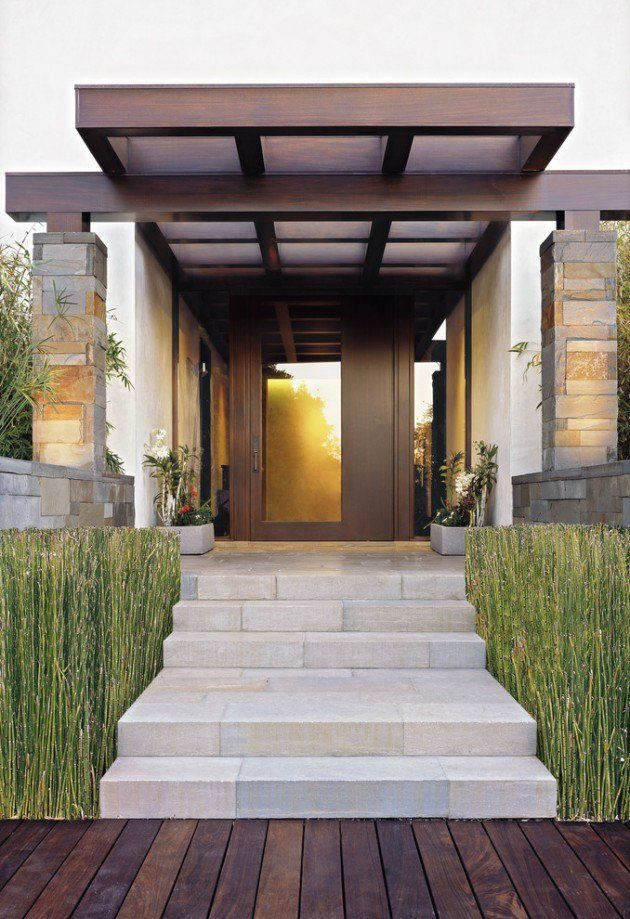 20 welcoming contemporary porch designs to liven up your for Modern portico designs
