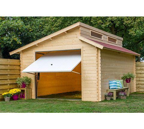outdoor life yorgo stufendachgarage 380 x 540 mit h rmann garagentor garten. Black Bedroom Furniture Sets. Home Design Ideas