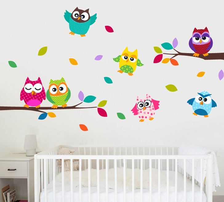 Nursery wall decal birds owls squirrels by walldecalsource 99 00 jenna leitch calleighs room inside homesweethome pinterest squirrel