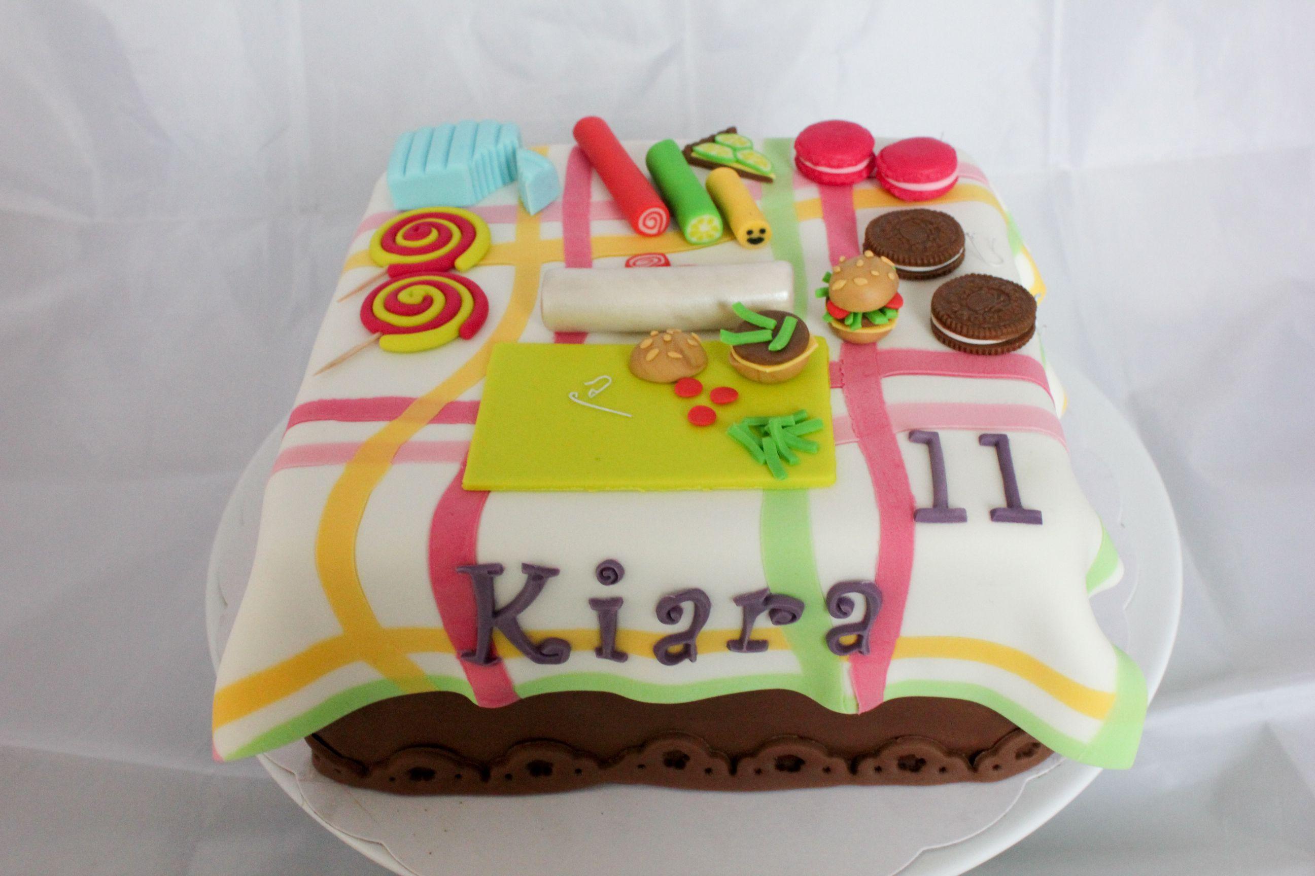 Birthday cake fimo déco sugar by Christel Kiki
