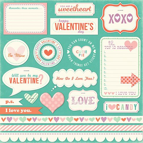 VD Printable Stickers Or Scrapbook Elements