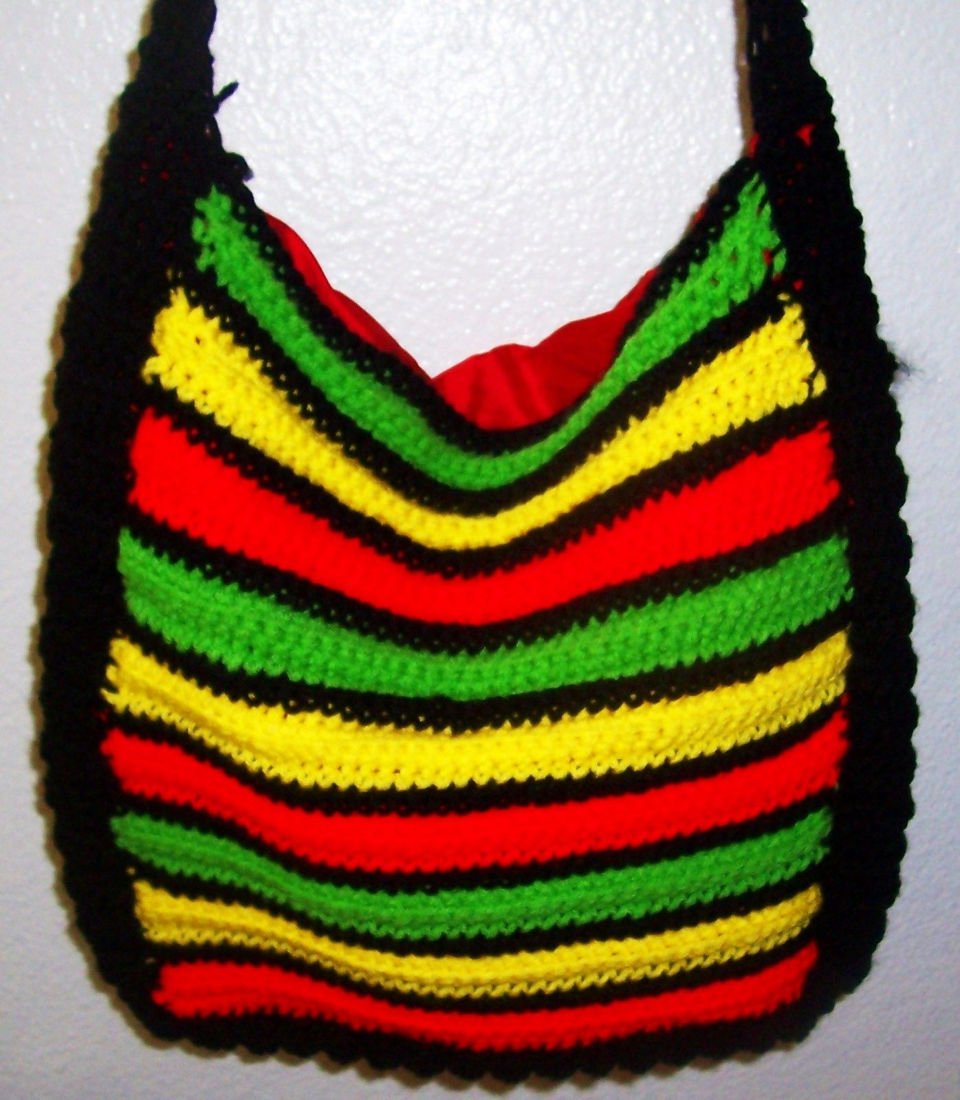 Rasta Crocheted Purse