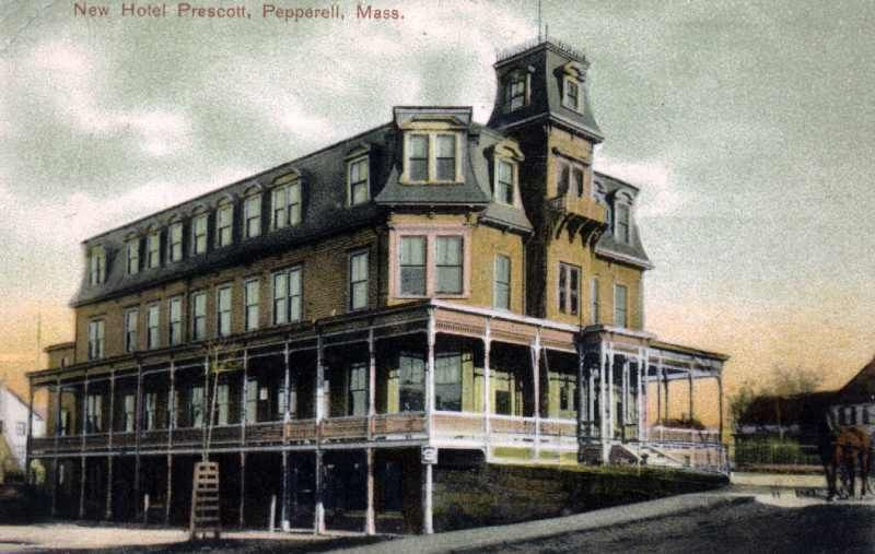 Hotel Prescott Pepperell Massachusetts Gone Now A 7