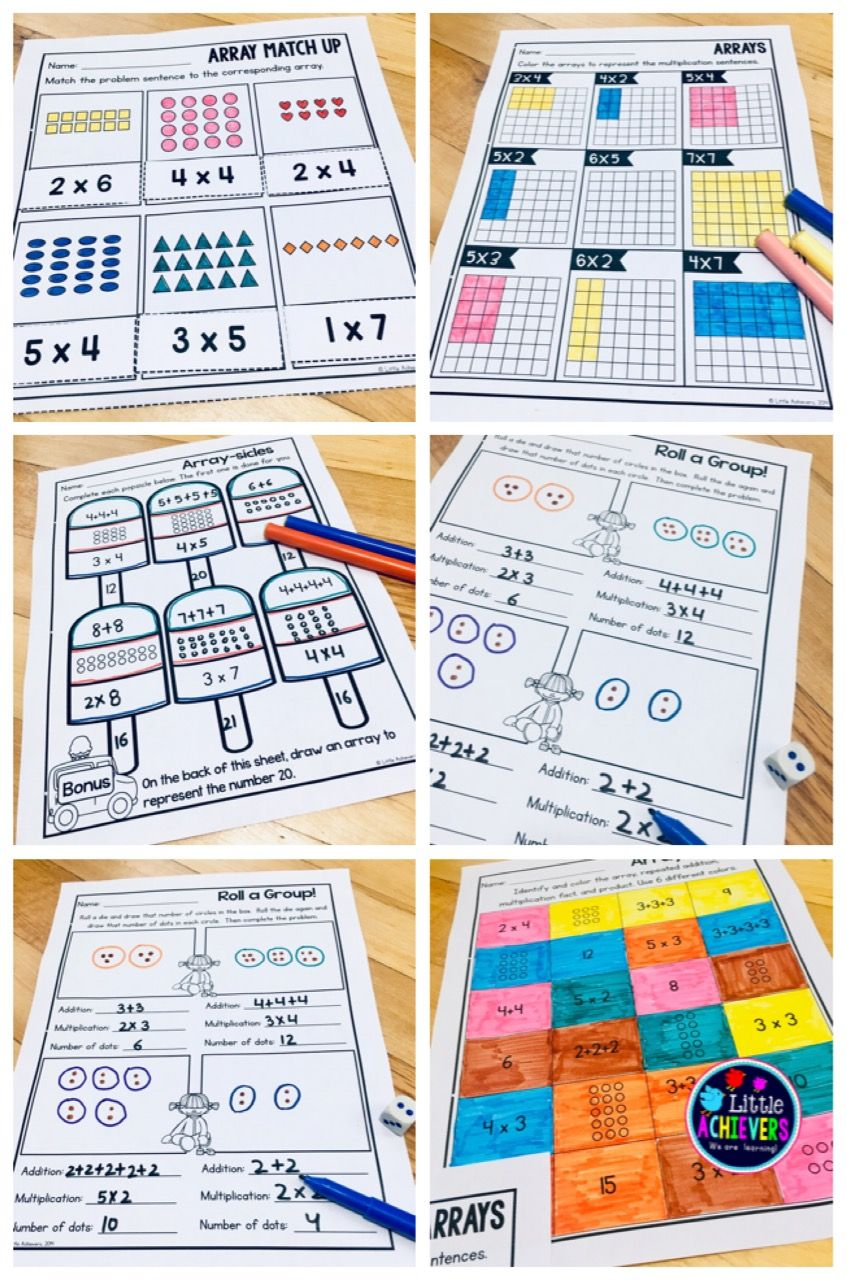 Arrays Worksheets 2nd Grade   Repeated Addition Arrays   Free math lessons [ 1280 x 847 Pixel ]