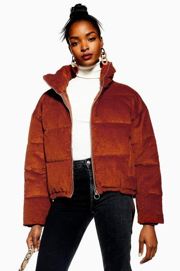 Corduroy Puffer Jacket in 2020 | Jackets, Winter jackets ...