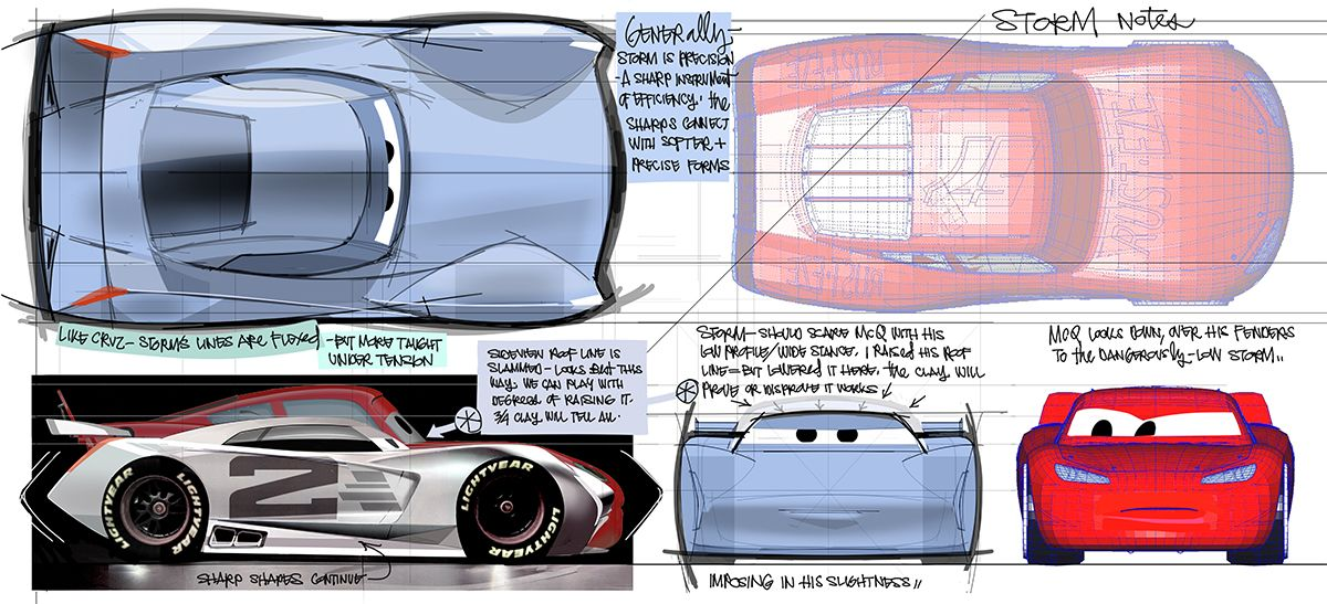 The Race Begins Here Cars 3 Concept Art Pixar Concept Art Cars