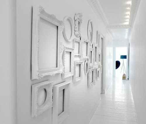 white decorating ideas white picture frames for bright wall decor