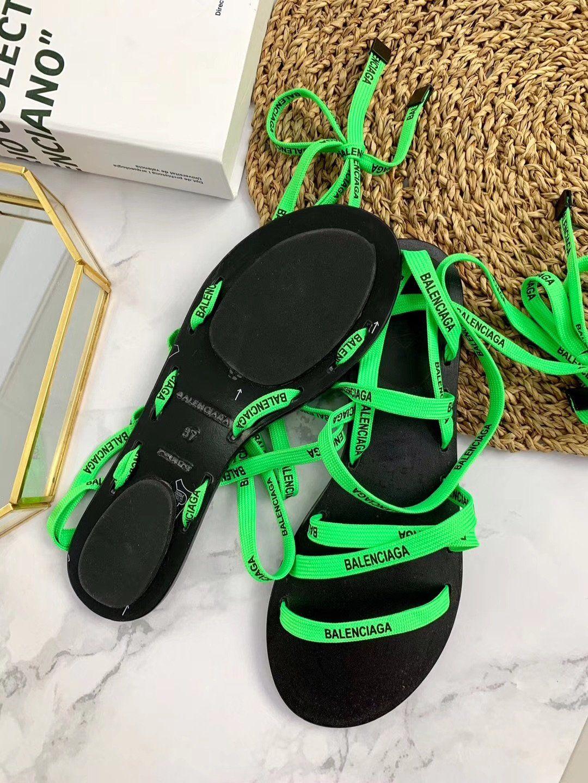 Balenci neon sandals luxury khator neon sandals