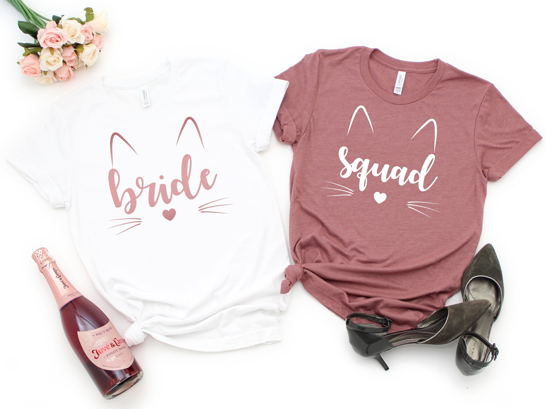 Bridal Party Shirts Babe of Honor T-Shirt Bride Squad Bridesmaid Proposal Bachelorette Party Shirts Team Bride Tank Top Racerback Wedding Party Tshirt Bridesmaid Gift