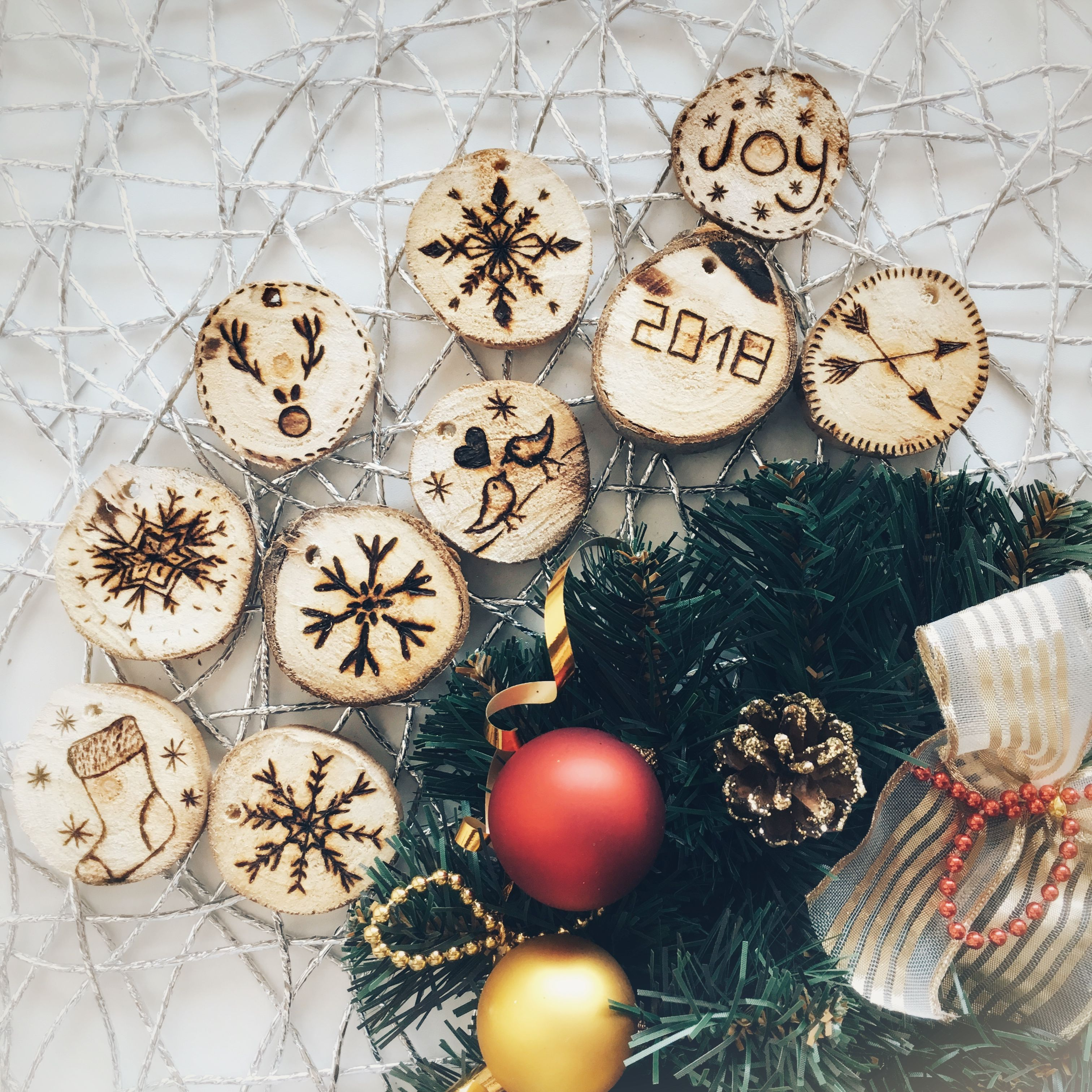 Wooden christmas decoration hand made made by me pinterest