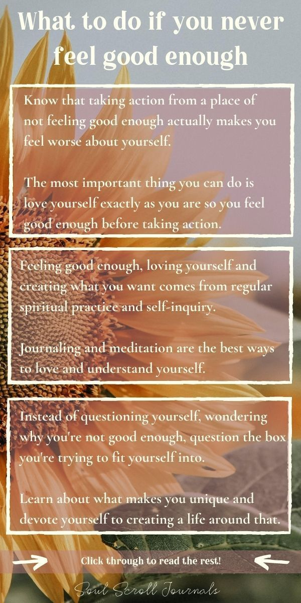 What to do if you never feel good enough