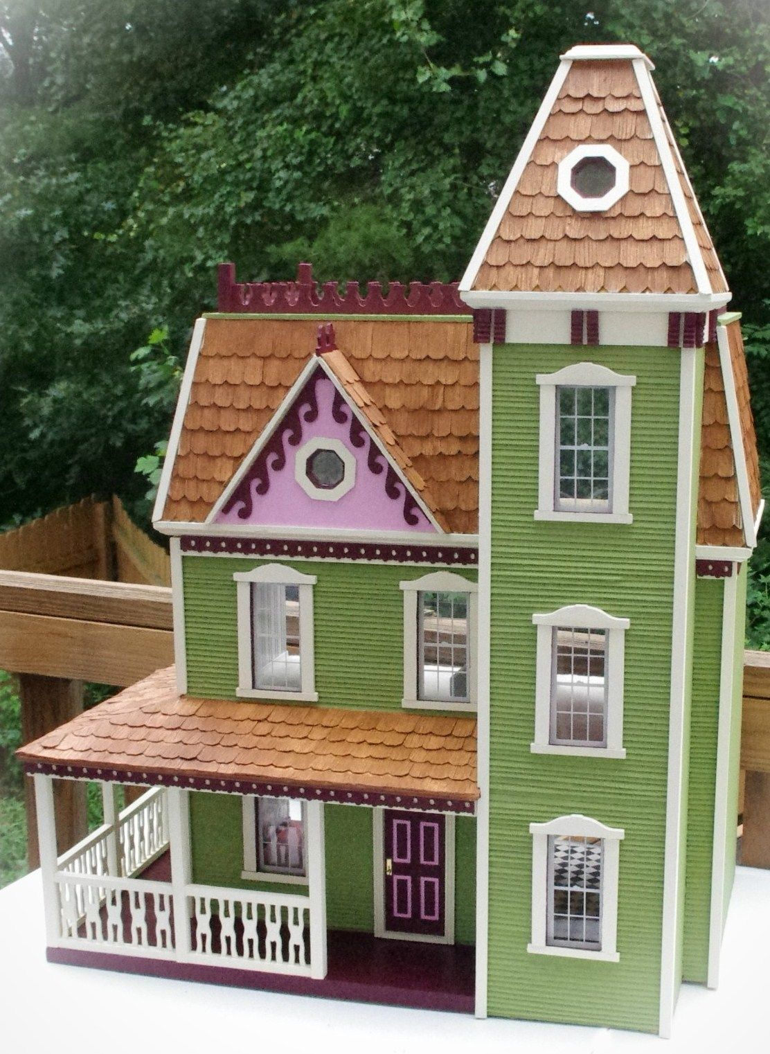 Victorian miniature houses - Finished Apple Blossom Dollhouse Victorian Dollhousevictorian Housesdollhouse Ideasdollhouse Miniaturesmini