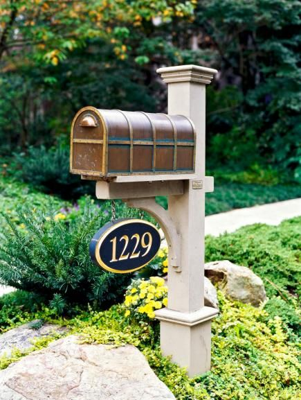mailbox post ideas. Spruce Up The Curb Appeal Of Your Home By Adding Touches Reflecting  Personality And Style. Mailbox Post Ideas