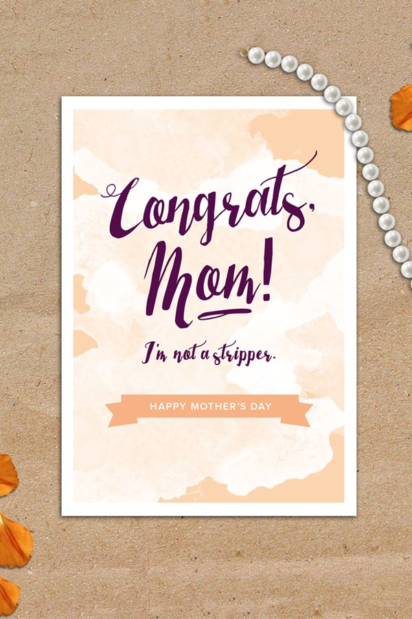 Mothers Day Card Funny Mothers Day Gift Mom Gifts Funny