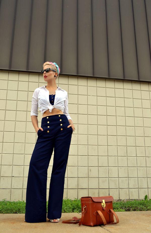 pin up girls sailor pants