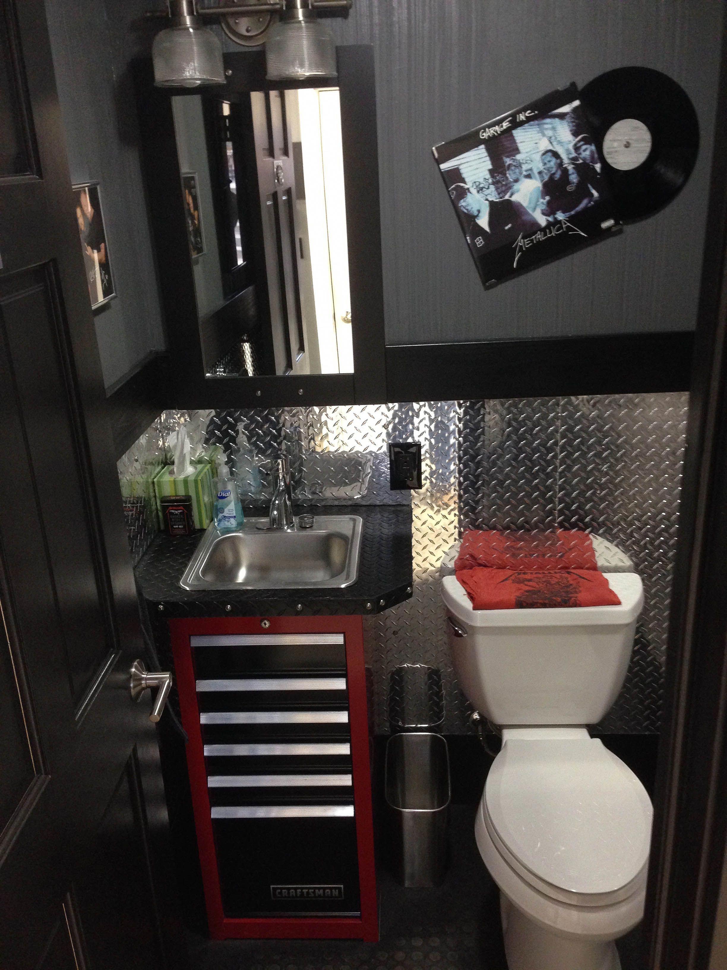 Pin By Angelica Maier On Car Repair Tips Garage Bathroom Mechanic Shop Garage Interior