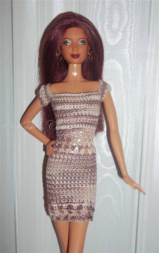 Crochet dress for Poppy Parker Barbie Basics Model Muse dolls