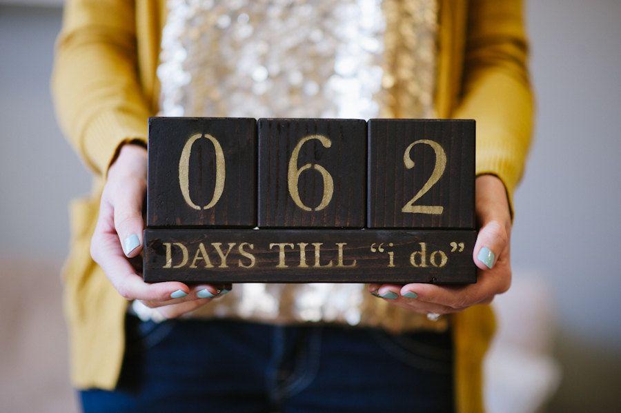 Countdown To Wedding Gifts: Wedding Countdown Blocks