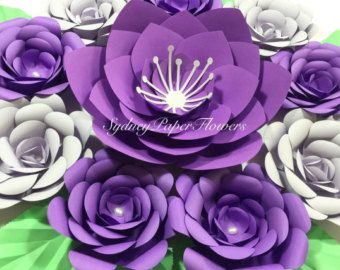 Paper Flowers Backdrop Paper Flower By Sydneypaperflowers On Etsy