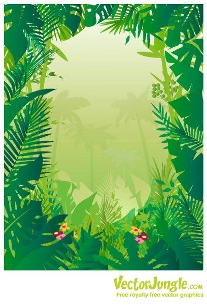 free vector jungle background animals jungle illustration