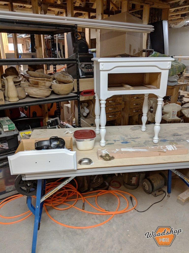 How to Restore an Old Nightstand Diy platform bed