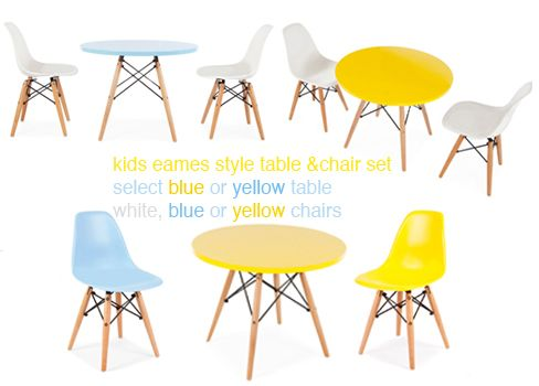 Ciel | Kids Eames Style Table and Chair Set | Sustainable Kids ...