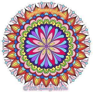Beautiful Floral Mandala Coloring Page By Thaneeya McArdle