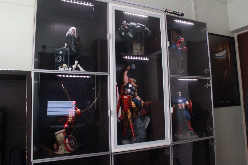 Ikea besta cube figurine display geek