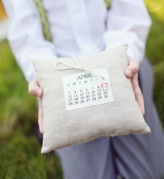 Ring Bearer Pillow Alternative Calendar