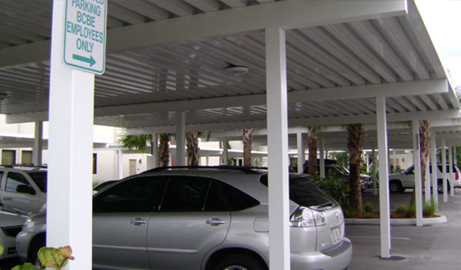Aluminum Carports DropOff Canopies Parking Garage