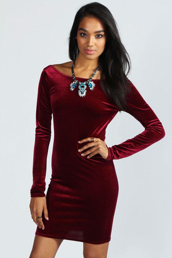 Resultado de imagen para modelos de ropa de dama en tela terciopelo ... 602da6554328
