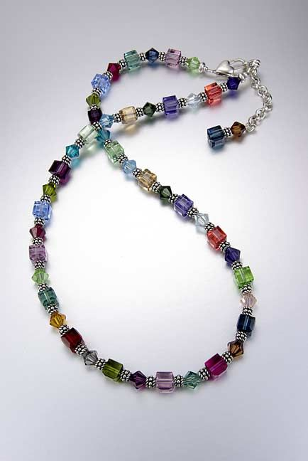 swarovski crystal and sterling silver necklace