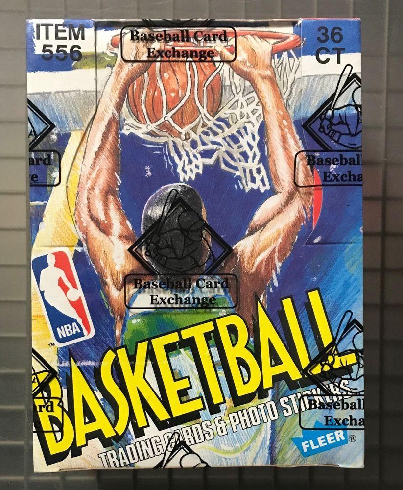 198990 fleer basketball unopened wax pack box w 36 packs