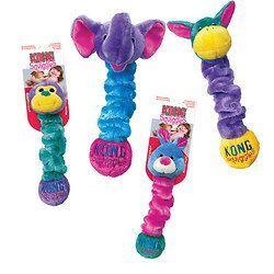 Interactive Dog Toys Exercise KONG Squiggles Dog Toy Medium                      - Statelinetack.com